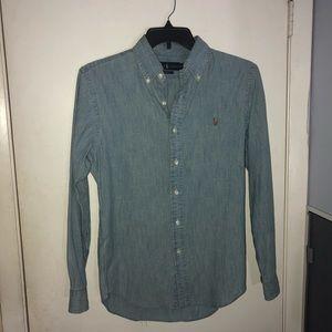 Men's Ralph Lauren Light Blue Denim Chambray Shirt